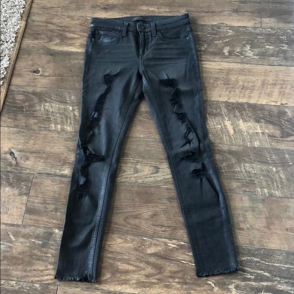 Joe's Jeans Denim - Black distressed skinny jeans